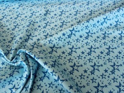 Baumwolle Sterne türkis