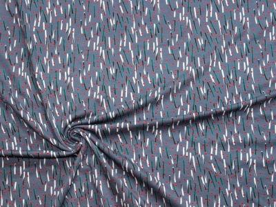 Jersey Punkte Striche Pinselstriche Viskosejersey