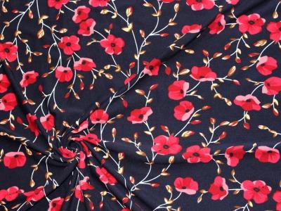 Jerseydruck Magnolien Blumenjersey