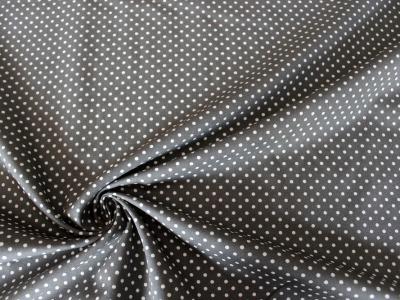 Baumwolle Puenktchen Patchworkstoff Punkte grau