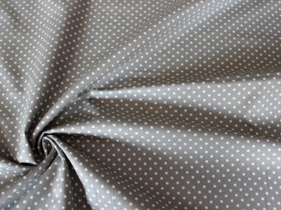 Baumwolle Puenktchen Patchworkstoff Punkte hellgrau