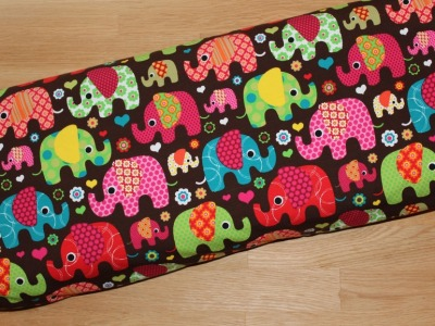 Jersey Elefanten braun pink bunt