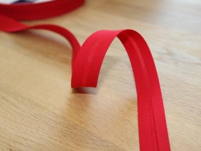 1m Schrägband uni 18mm rot