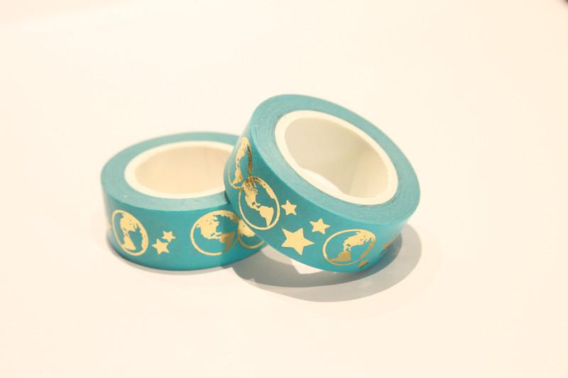 Masking Tape Washi Tape Sterneweltkugel Farbenkreisel Sticker