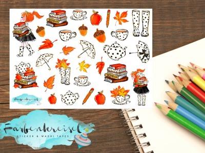 Herbst Sticker Punkte