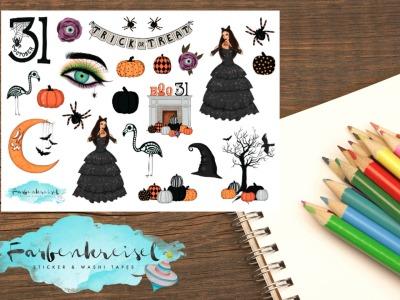 Halloween Lady Sticker