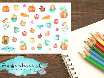 Herbstliche Sticker
