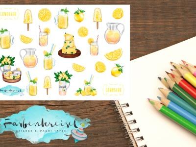 Sommer Sticker Limonade/Zitrone