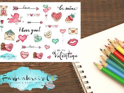 Valentinstag Pfeil/Herz