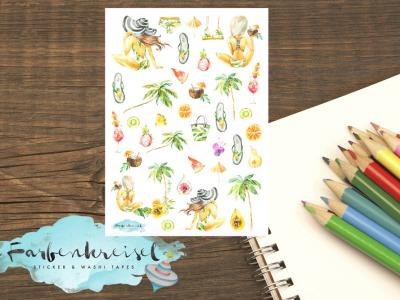 Sommer/Strand/Palmen Lady Sticker