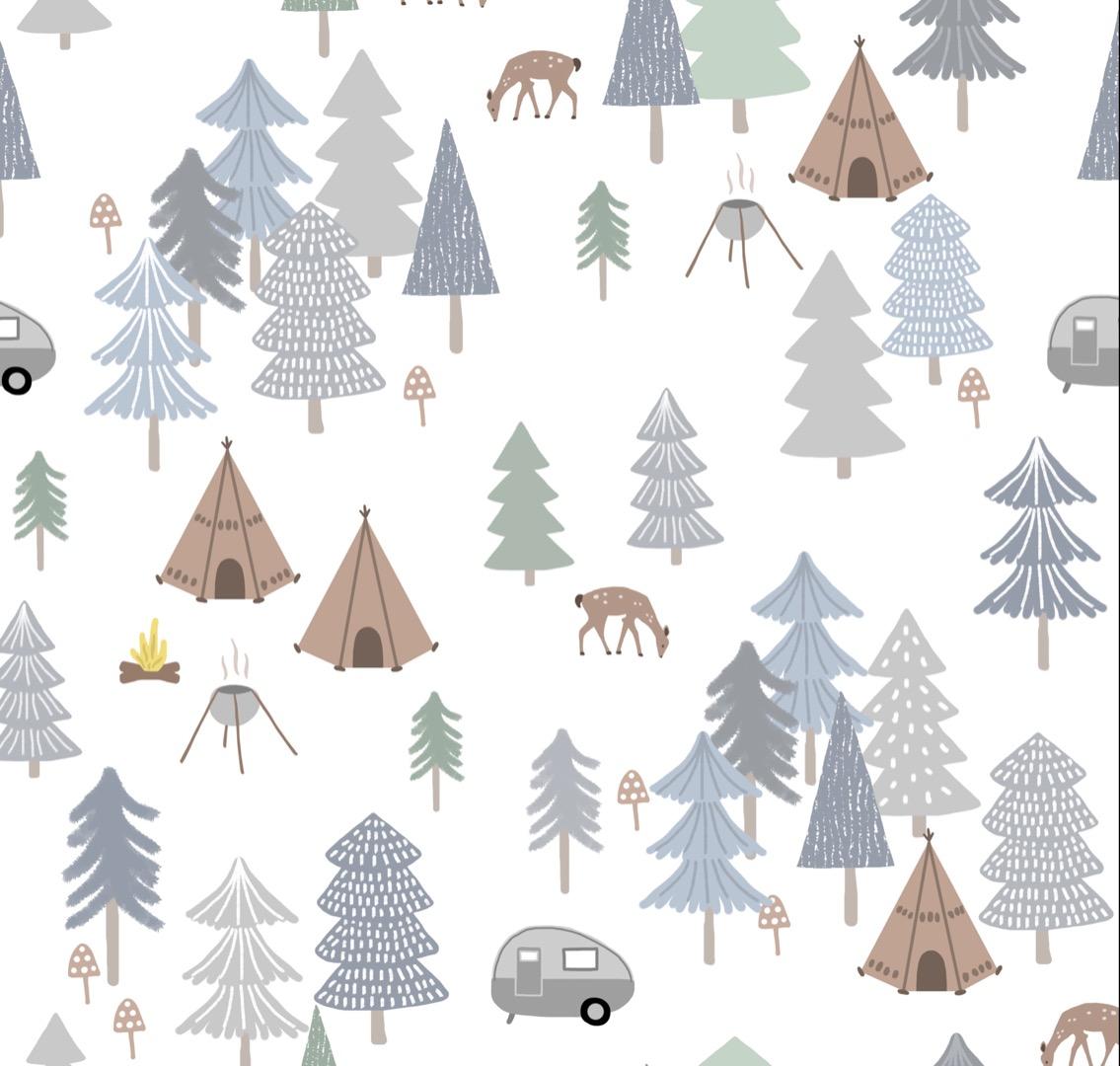 EP Winter Wald weiss/grau