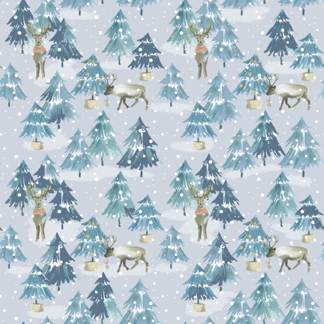 EP Winter Wald auf jeansblau
