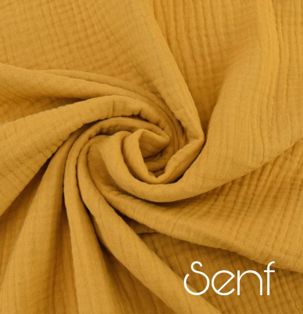 Musselin Decke in Wunschfarbe 6