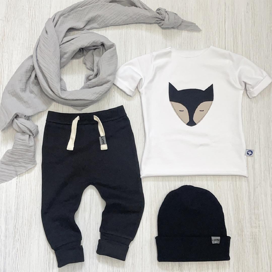 T-Shirt mit Fuchs Applikation Zajaz Bio