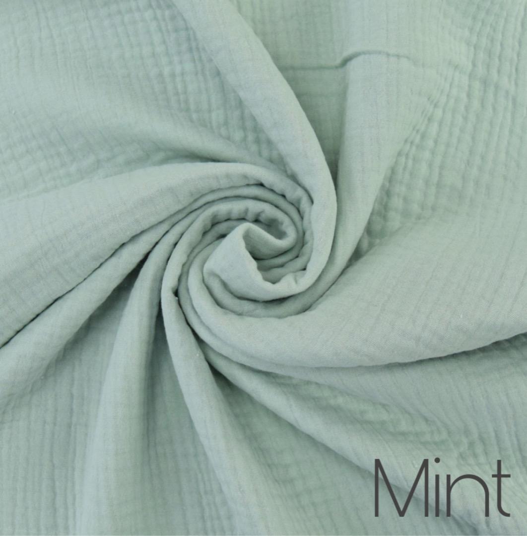 Musselin Decke in Wunschfarbe 8