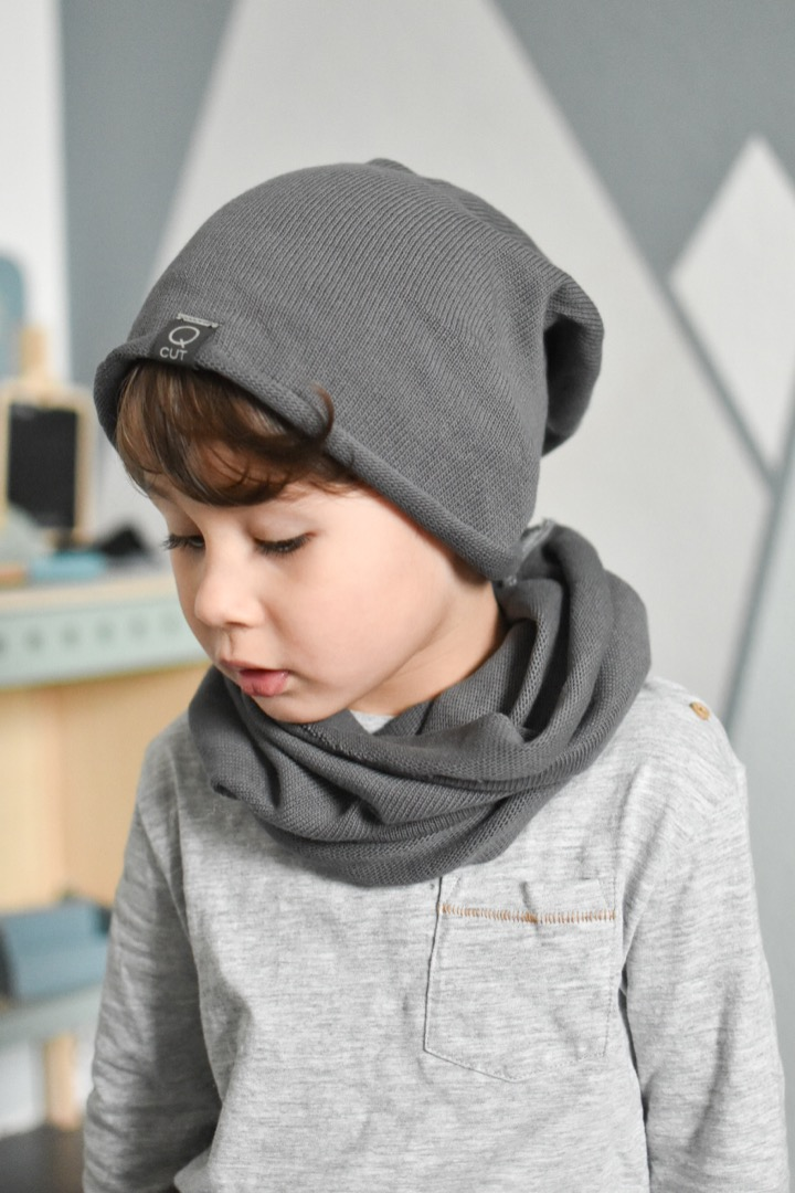 Set Beanie und Loop Strick 3