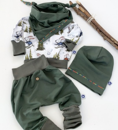 Pullover Ski Hase mit