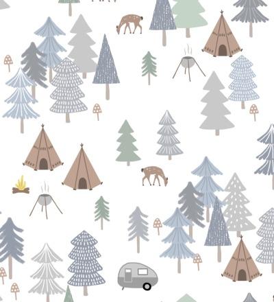 EP Winter Wald weiss/grau RESTMETER