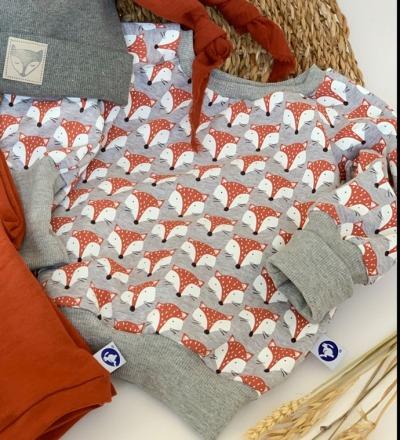 Pullover Fuchs mit mitwachsbündchen