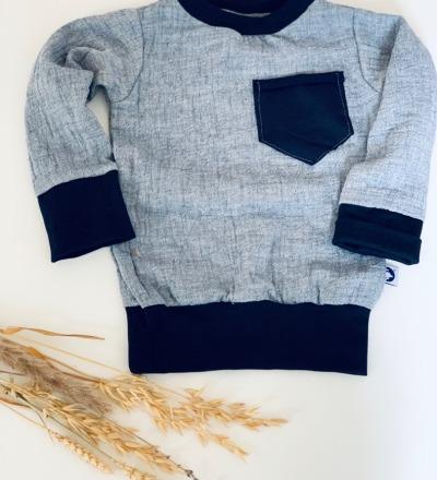 Pullover mit Tasche und mitwachsbündchen