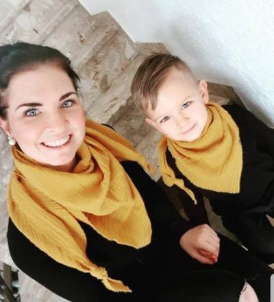 Set Musselintuch Senf Zajaz - Zajaz -einzigartige Kindermode