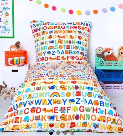 kuschelige Kinderbettwäsche im fröhlichen ABC-Design Graziella