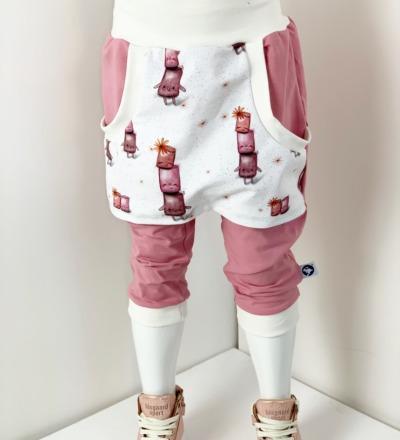 Kurze Hose mit Tasche Marshmallow Love