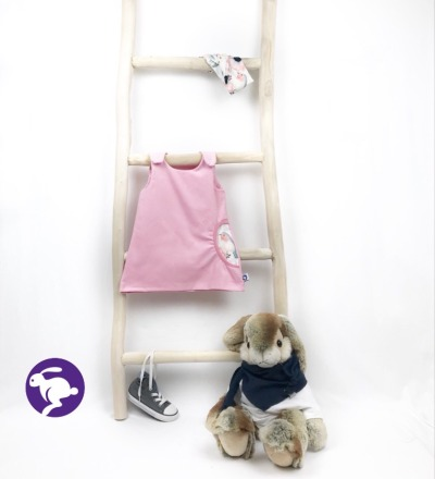 Kleidchen aus Babycord mit Tasche Zajaz