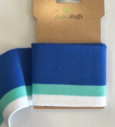Bio-Bündchen - College - This Summer - Cuff Me - Hamburger Liebe - Blau/Grün/Weiß - Zajaz -einzigartige Stoffe