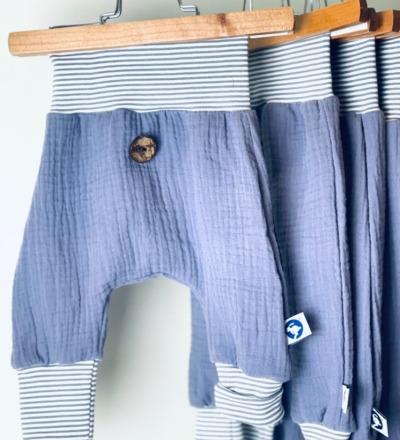 Sommer Hose aus Musseline Zajaz Flieder