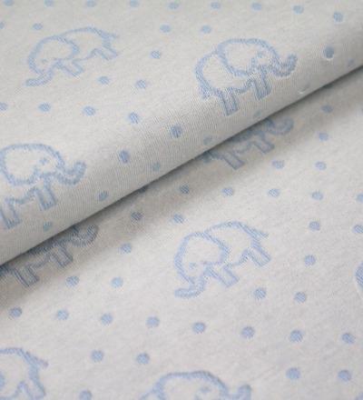 Elephant Love Doubleface-Jacquard-Jersey aus 100 kbA Bio-Baumwolle