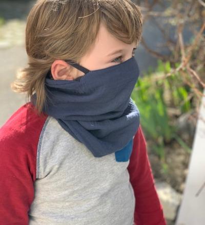 Musselin Loop in Wunschfarbe für Kinder