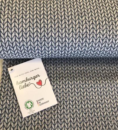 This Summer - Big Knit Knit Grau - Zajaz -einzigartige Stoffe