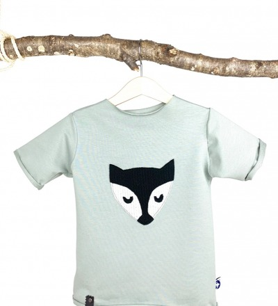 T-Shirt mit Fuchs Applikation Zajaz Bio