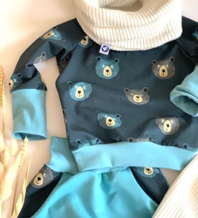 Pullover Bär mit mitwachsbündchen