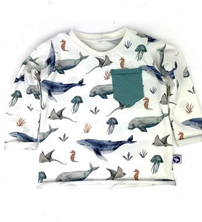 Shirt Meerestiere mit Tasche