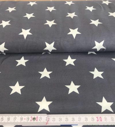 Jersey Stern Grau - Weiss - Zajaz -einzigartige Stoffe