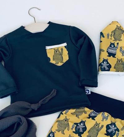 Pullover mit Tasche Bär