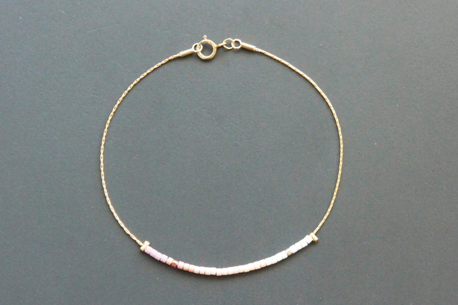 Filigranes Armband gold mit Verlauf rosé