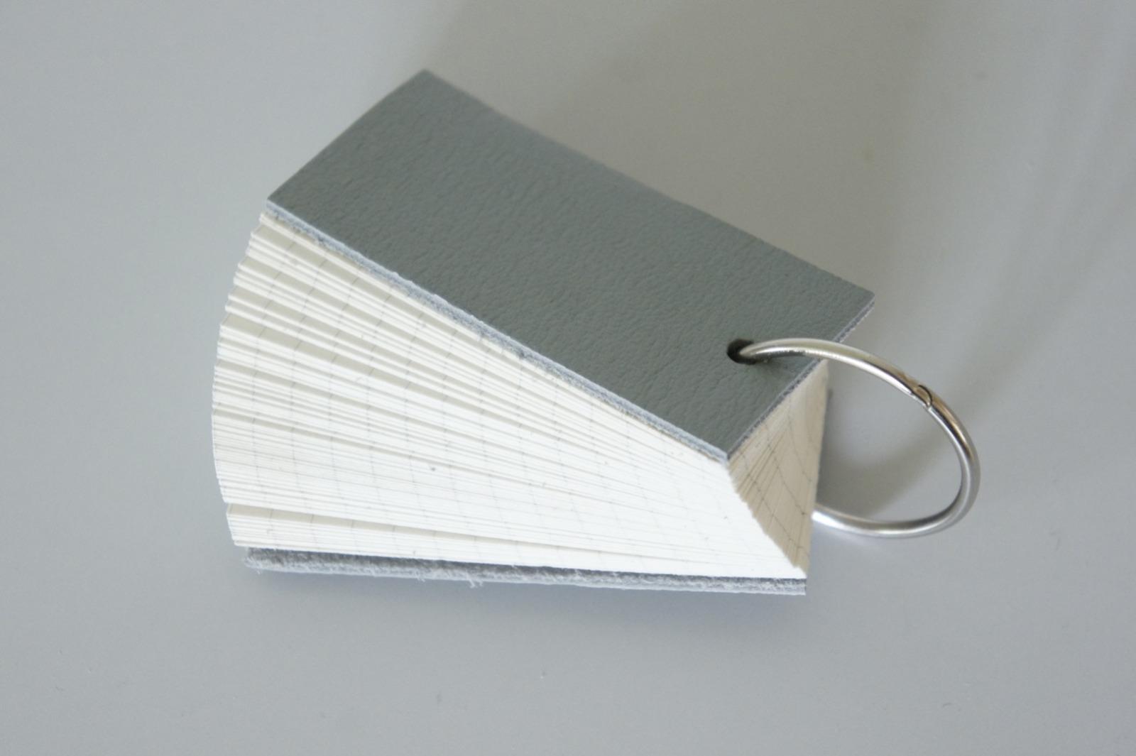 Mini Notizbuch Vokabeltrainer Leder - ozeangrün