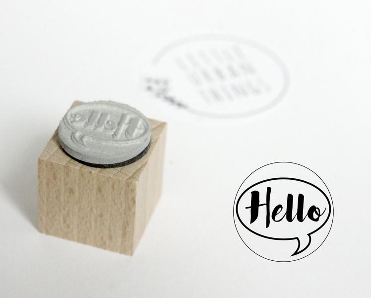 Stempel HELLO - 20x20mm