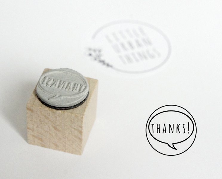 Stempel THANKS - 20x20mm - 1