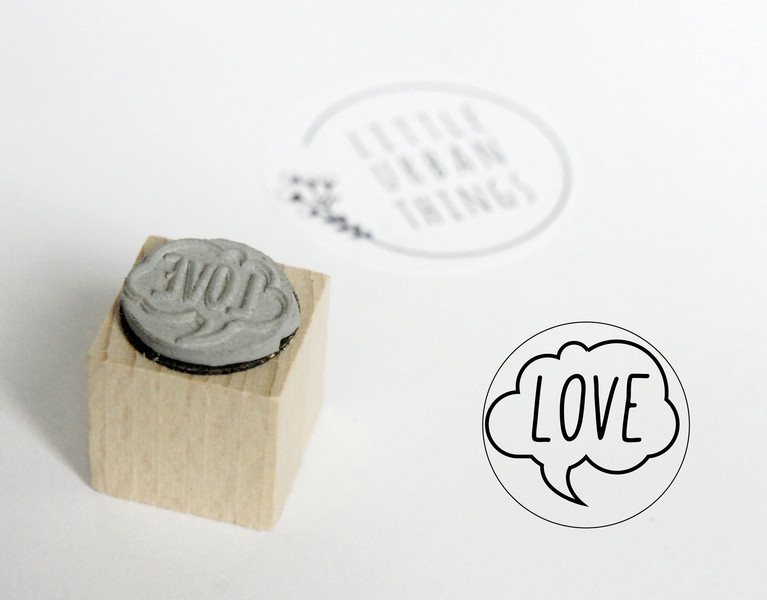 Stempel LOVE - 20x20mm - 1