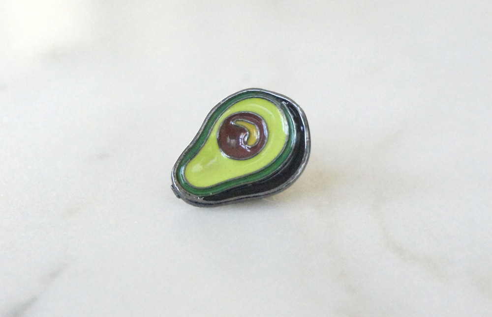 Brosche Pin Avocado 2