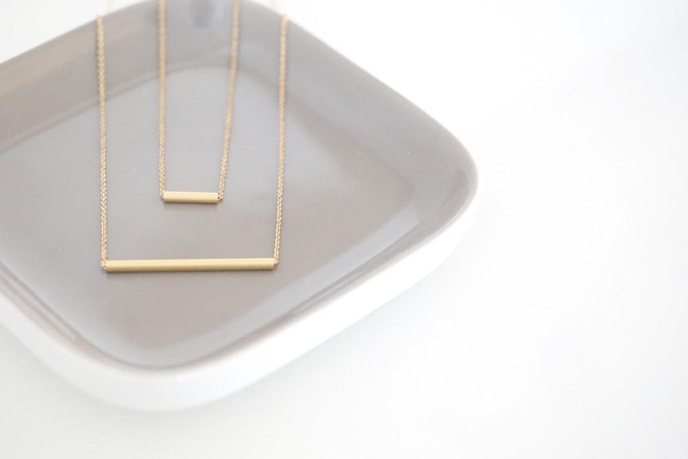 Set Ankerkette vergoldet mit Röhrchen gold - 1