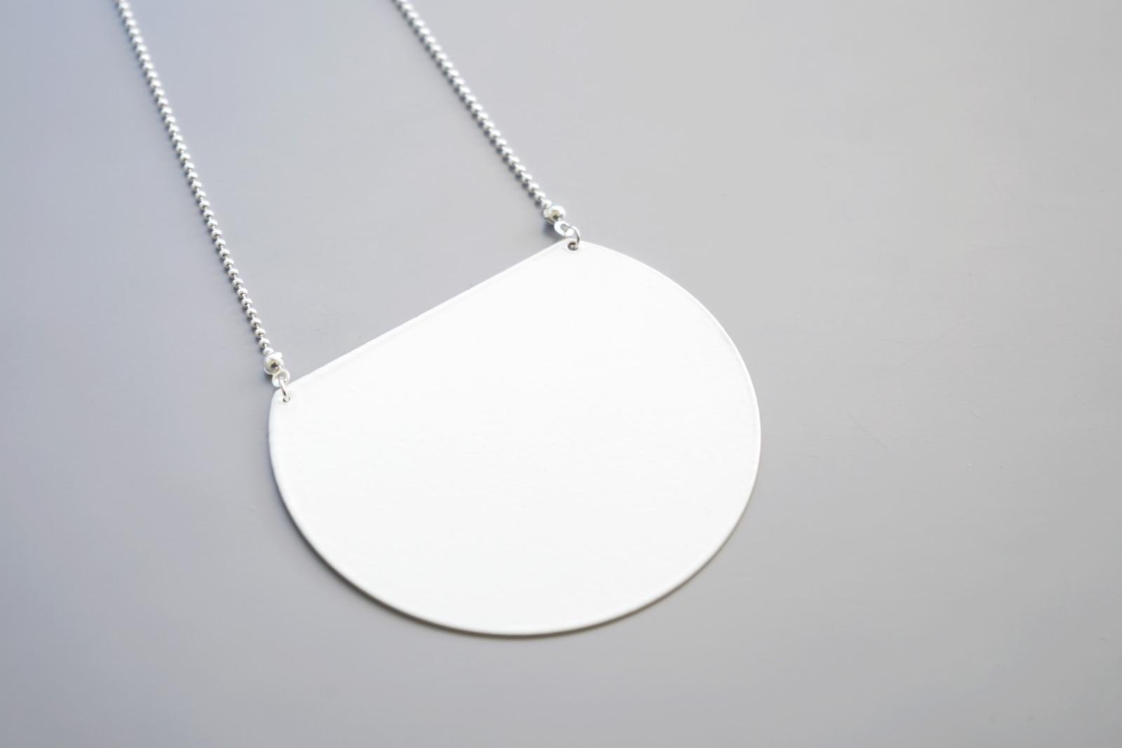 Statement Kette geometrisch, weiß - 1