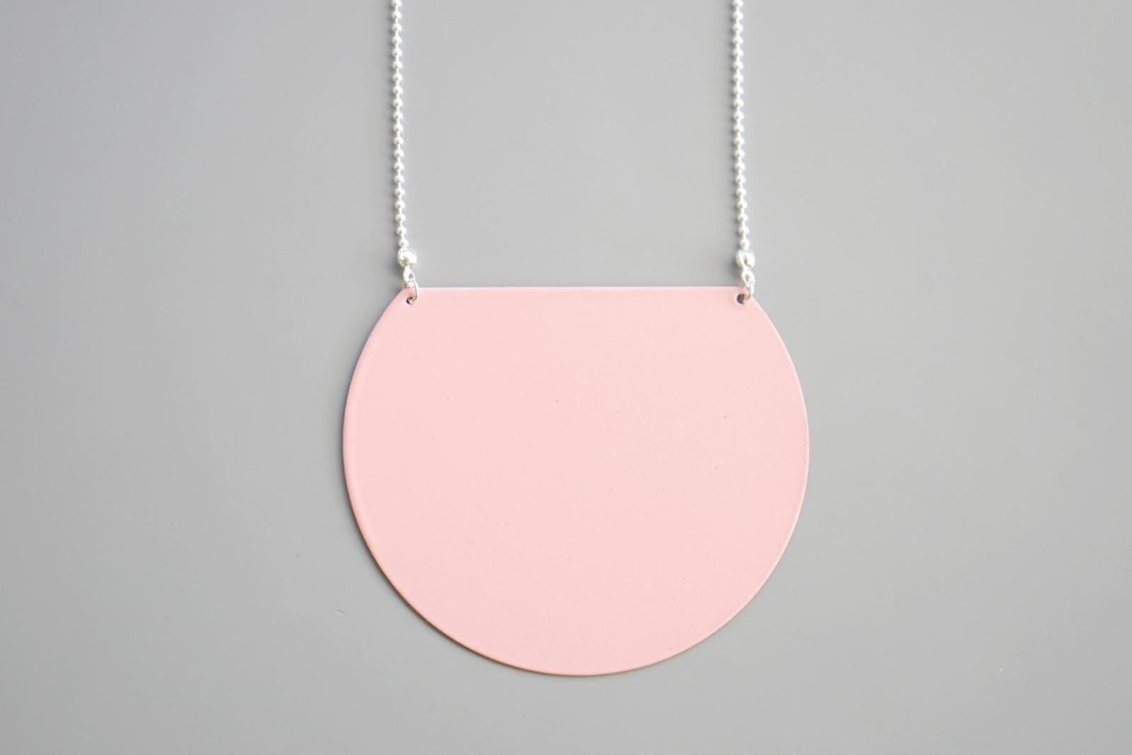 Statement Kette geometrisch rosa 2
