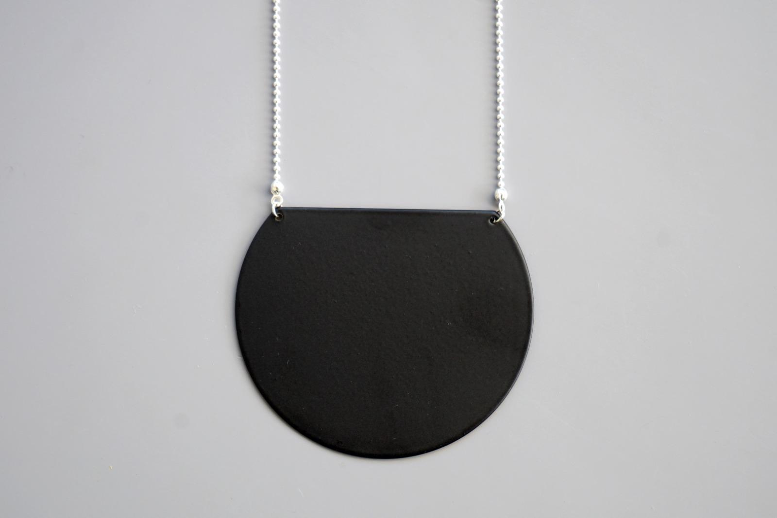 Statement Kette geometrisch schwarz - 2