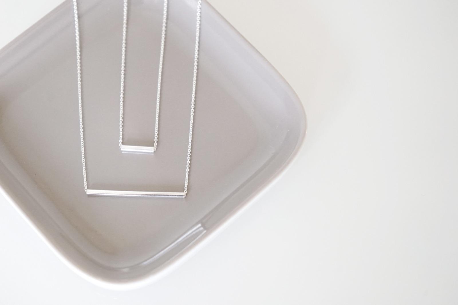 Set Ankerkette Silber mit Röhrchen silber