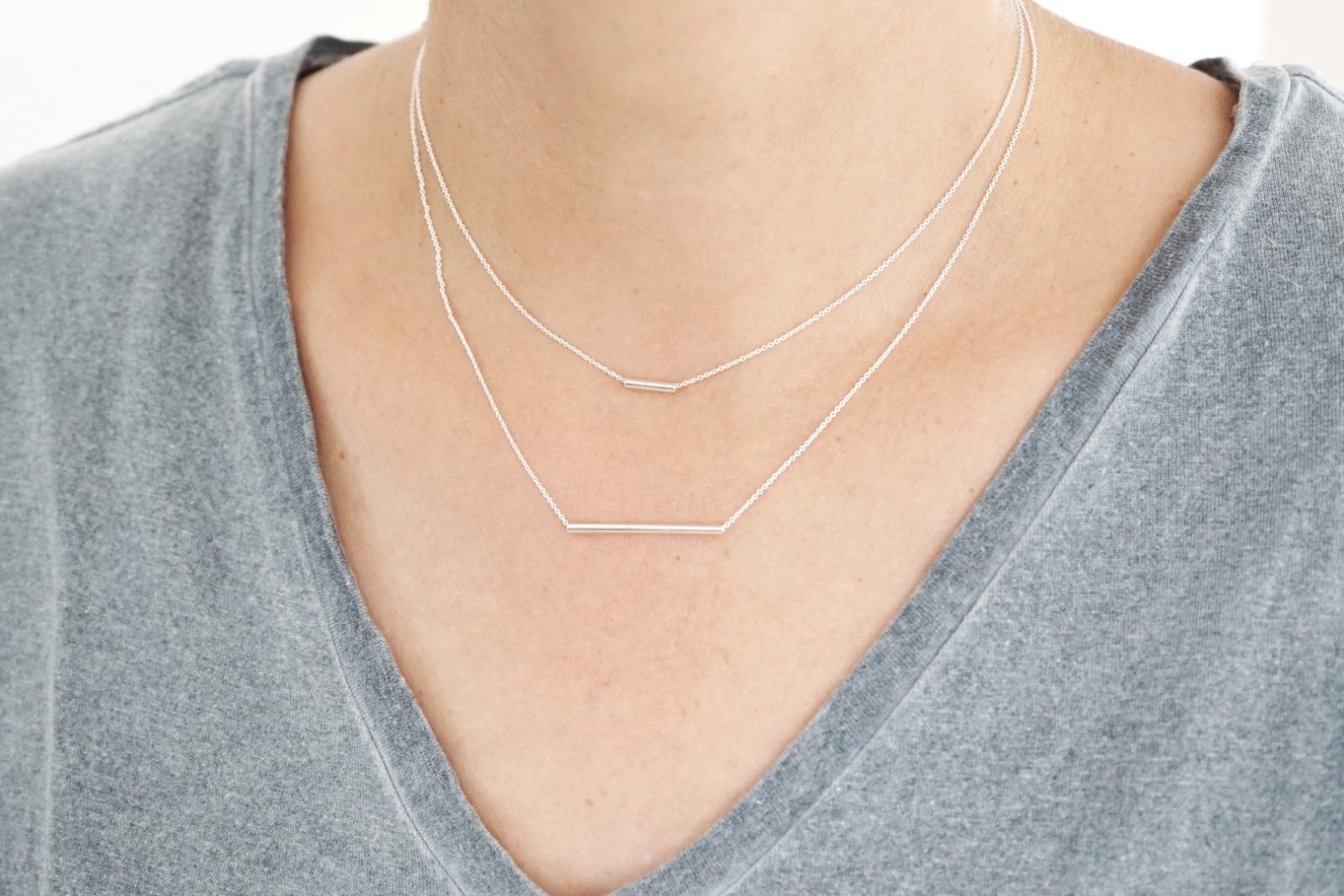 Set Ankerkette 925 Silber mit Röhrchen, silber